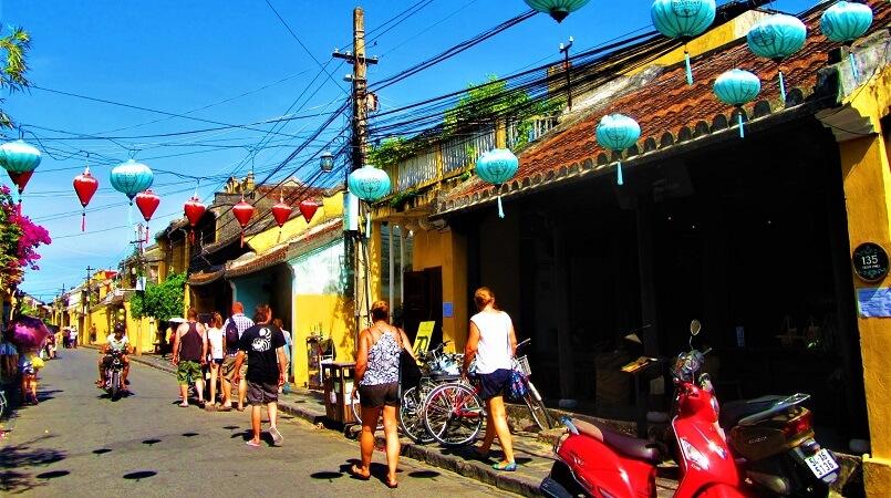 ベトナム中部ホイアンの街並み