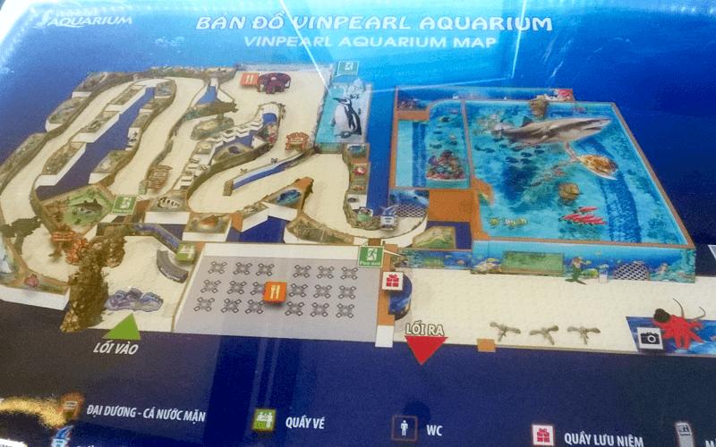 ハノイ水族館マップ