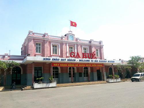 ベトナム列車 フエ駅