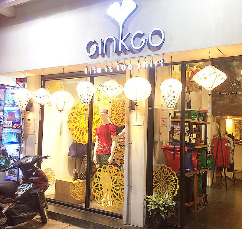 ベトナムで最もオシャレなデザインTシャツといえばギンコ。