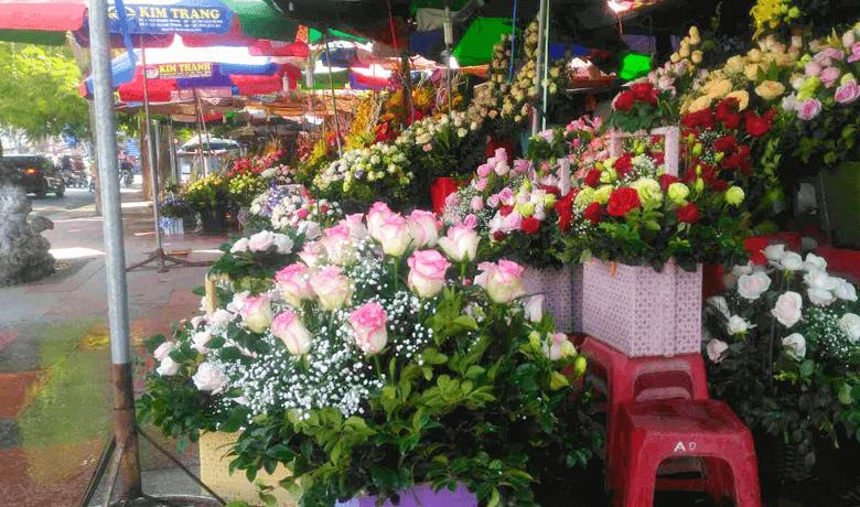 ハイフォンは花の大きな花市場