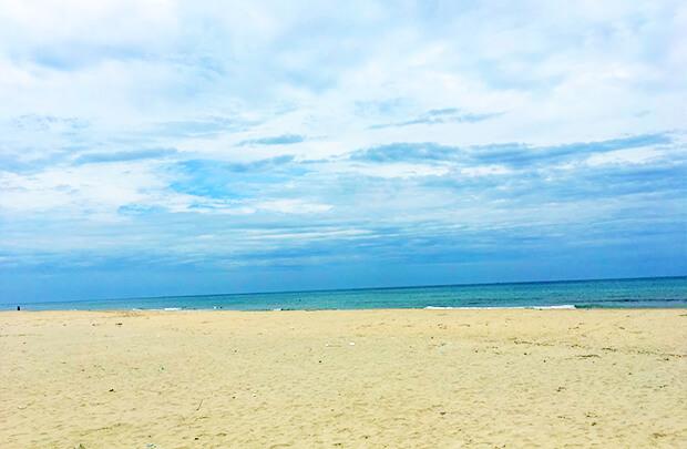 曇りがちなランコービーチ