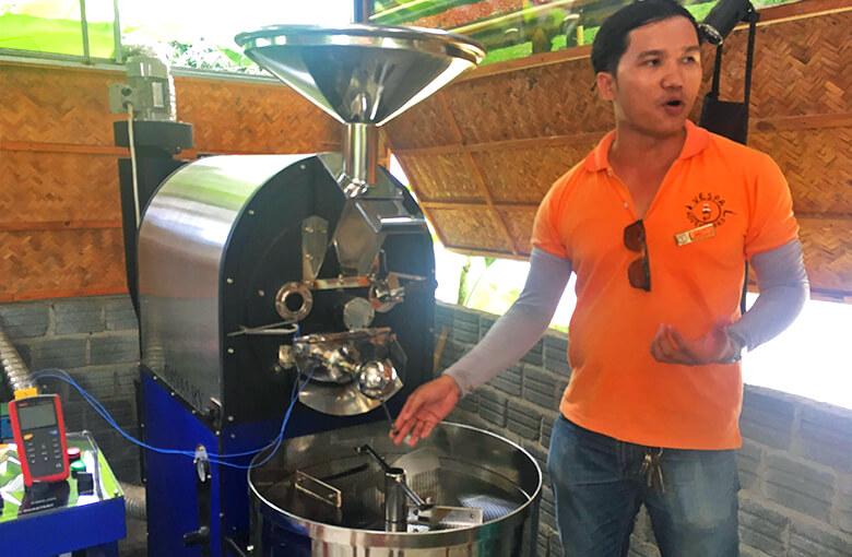 ホイアンおすすめバイクツアーで立寄るカフェのロースター
