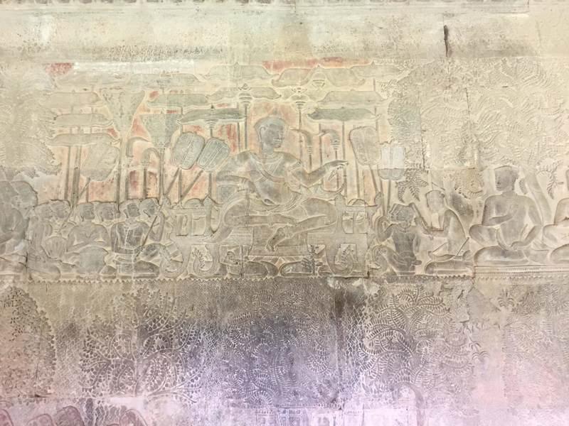 レリーフに描かれたスーリヤヴァルマン2世