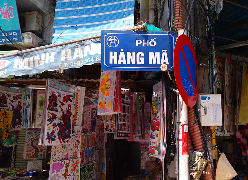 HANG MA通り - ハノイ旧市街の歴史と変遷、見どころ