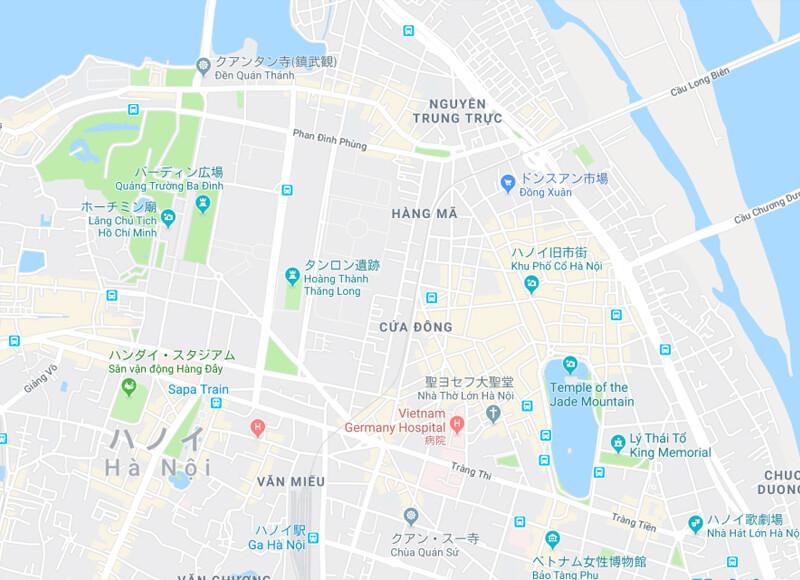 ハノイマップ - ハノイ旧市街の歴史と変遷、見どころ