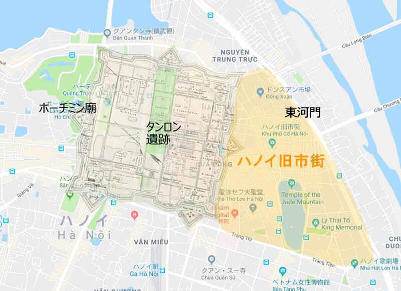 ハノイ旧市街マップ - ハノイ旧市街の歴史と変遷、見どころ