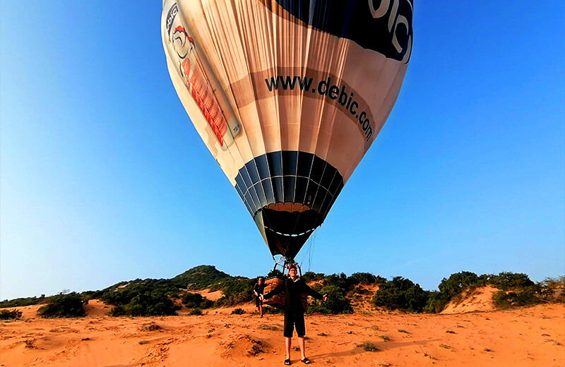 でかすぎてはみ出しちゃう気球- ムイネー観光気球ツアーレポ