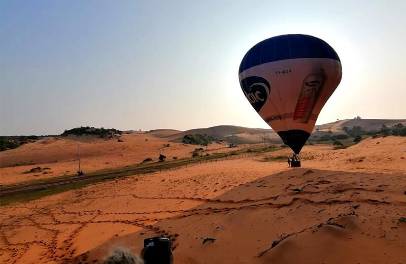 帰ってきてぐったりの気球- ムイネー観光気球ツアーレポ