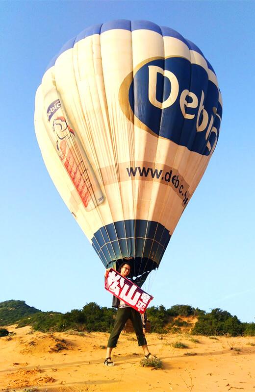 気球と久保- ムイネー観光気球ツアーレポ