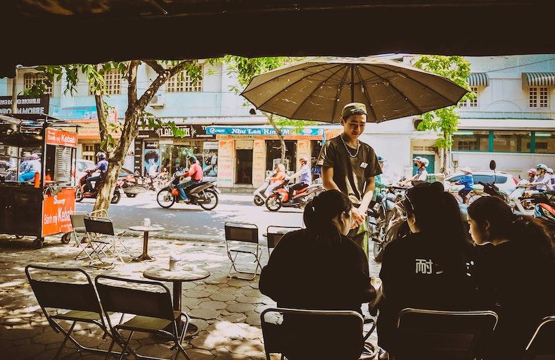 ハノイのカフェ